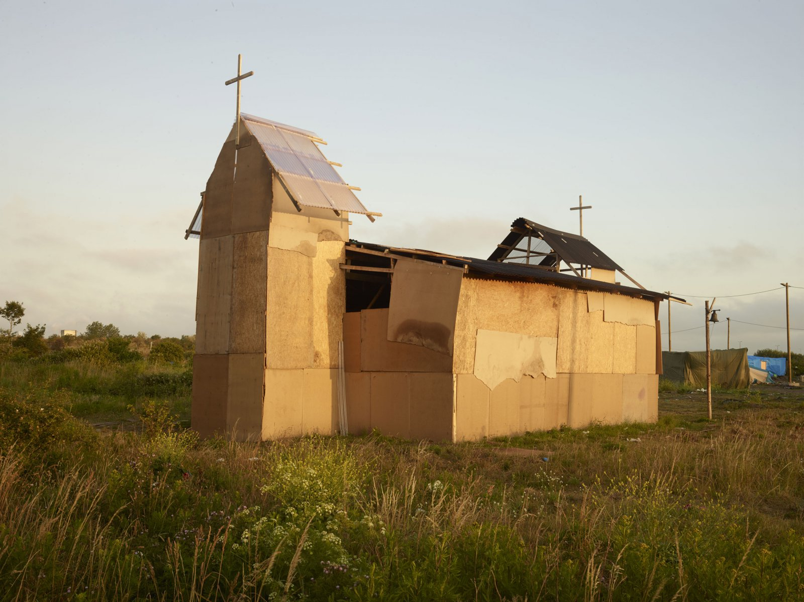 Calais, Eritrees Orthodox church, July 2015 © Henk Wildschut