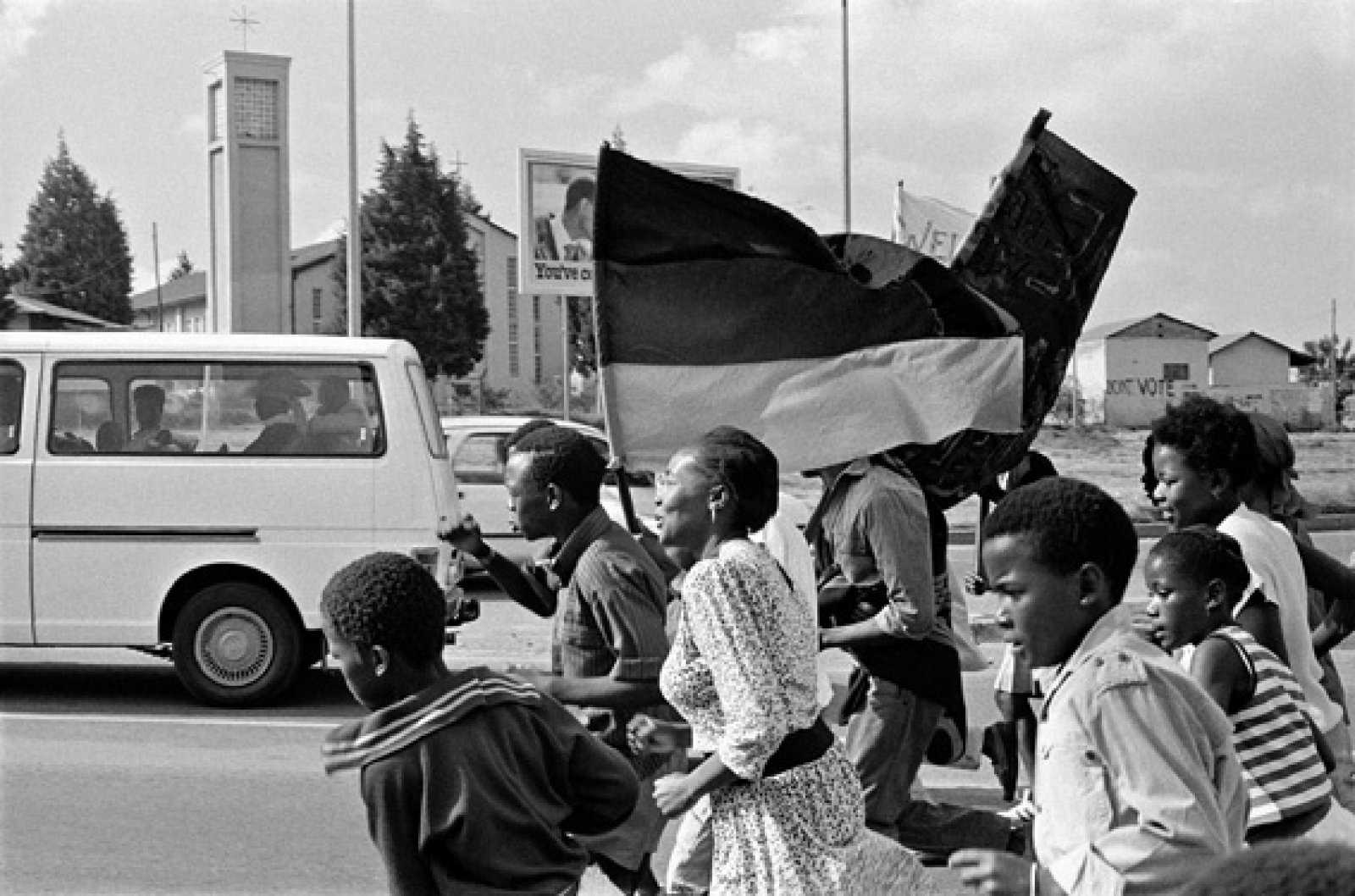 From the Series Politics. Photograph by Santu Mofokeng (b.1956) © Santu Mofokeng Foundation. Image courtesy of Lunetta Bartz, MAKER, Johannesburg and Steidl GmbH.