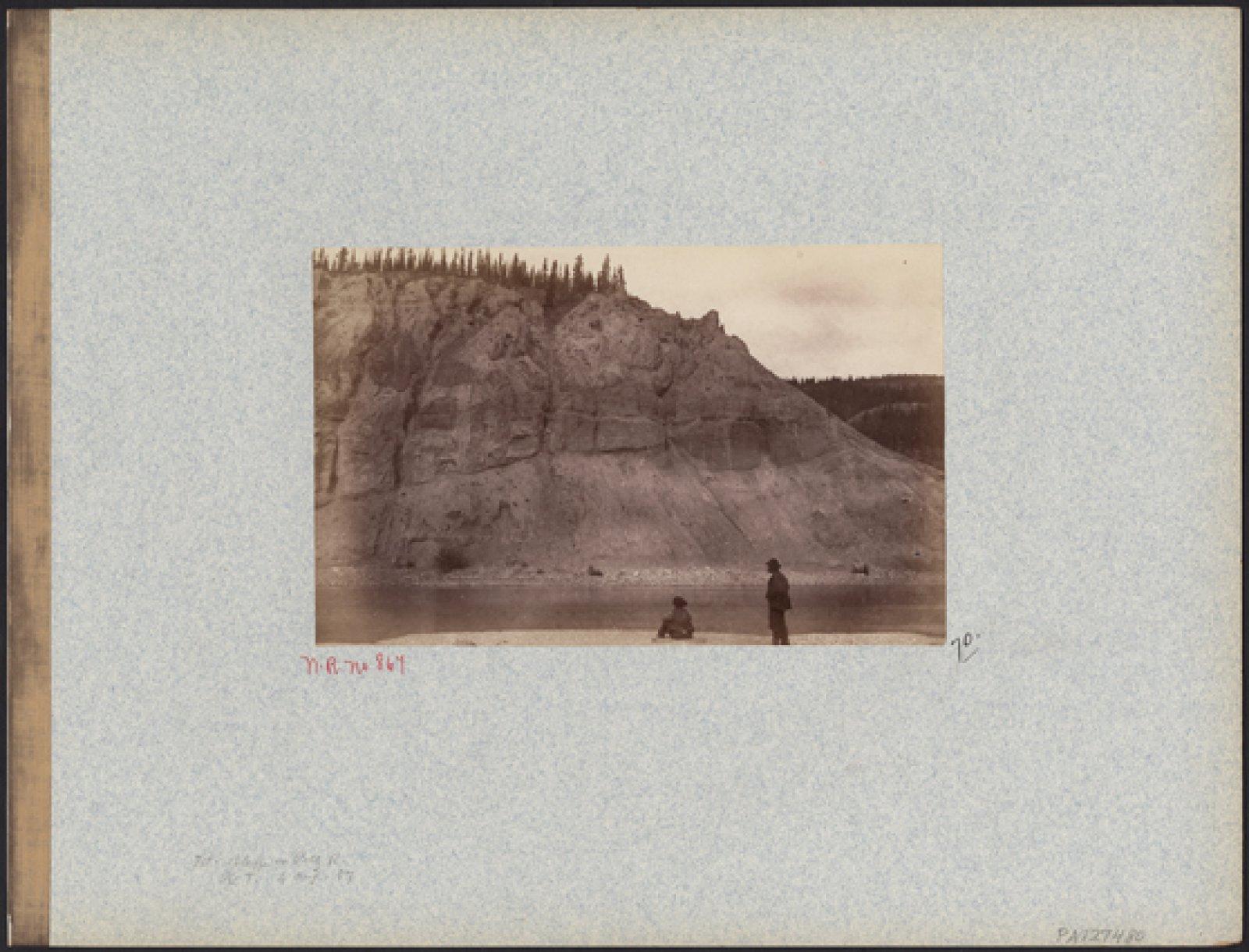 Bluff on Pelly River, August 4 1887 © George Mercer Dawson Albumen print