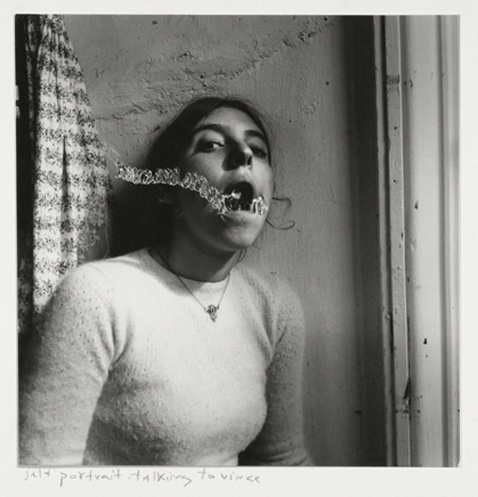 Francesca Woodman, Self-portrait talking to Vince, Providence, Rhode Island, 1977 © George and Betty Woodman