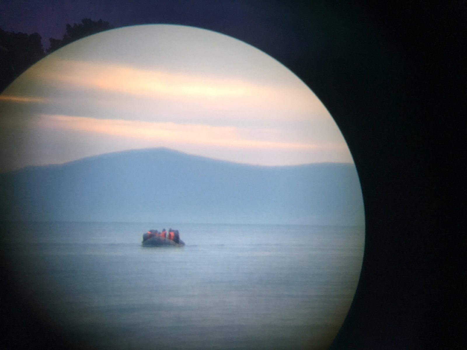 Incoming refugee boat, Lesbos, Greece. 17 February 2016 © Ai Weiwei Studio