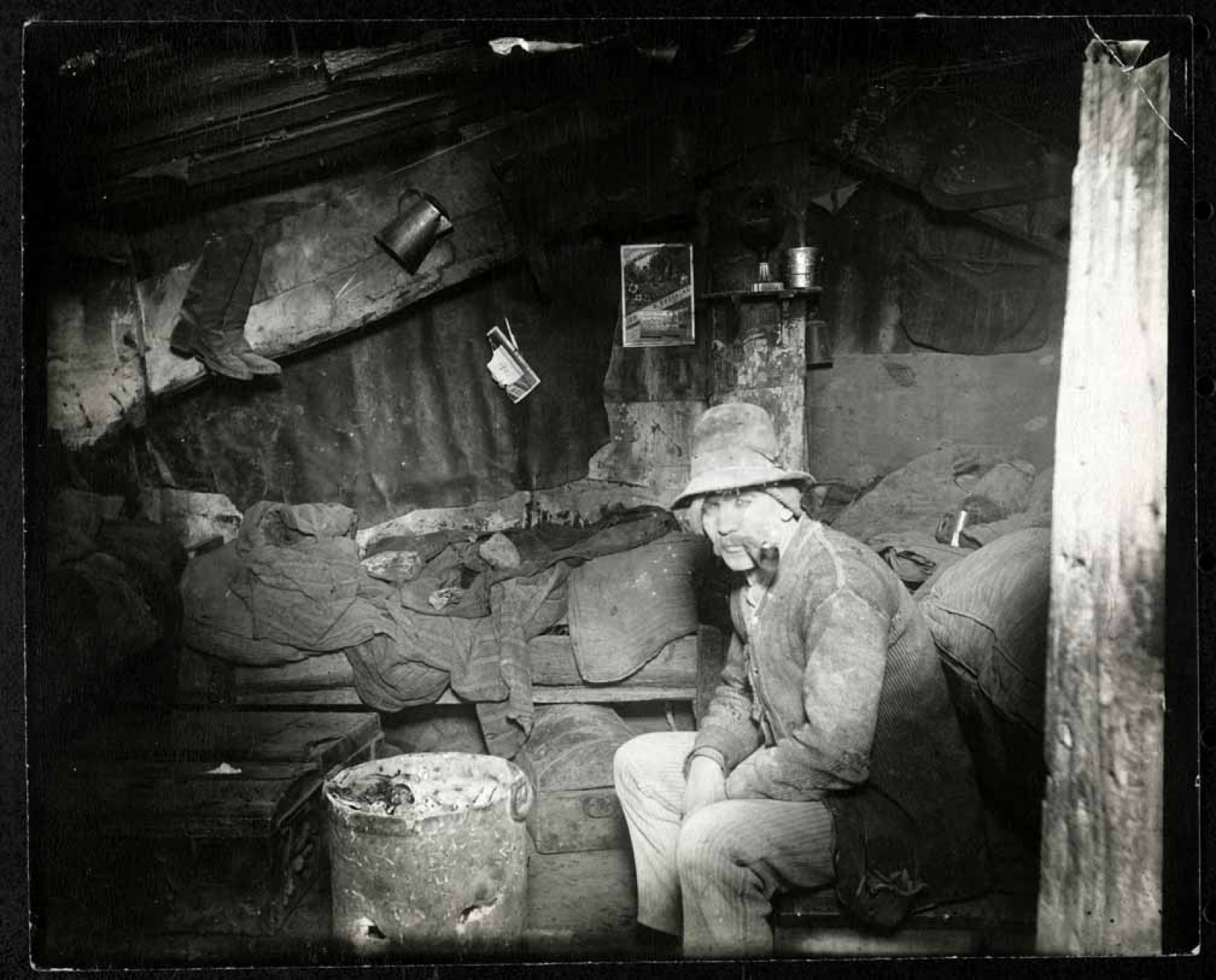 An Italian Home under a Dump, 1892 / Jacob Riis / Museum of the City of New York